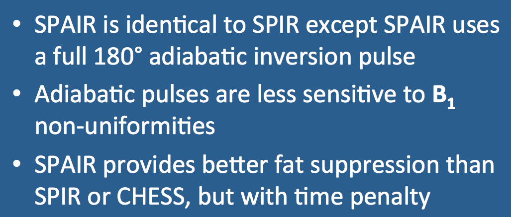 SPAIR (SPectral Attenuated Inversion Recovery)